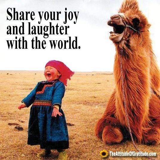 Share your joy and laughter with the world