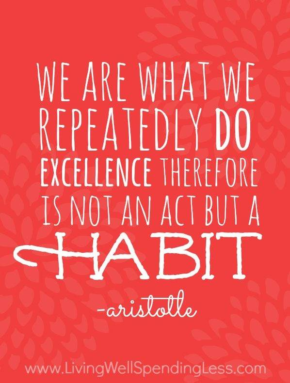 We are what we repeatedly do. Excellence therefore is not an act but a habit.