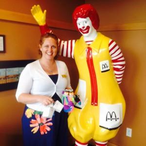 Joy Socks donation to Ronald McDonald House